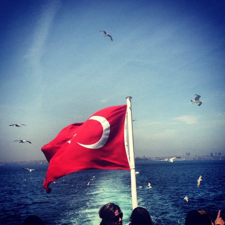 With boat going to Büyük ada / Prince's islands, #princeislands #istanbul
