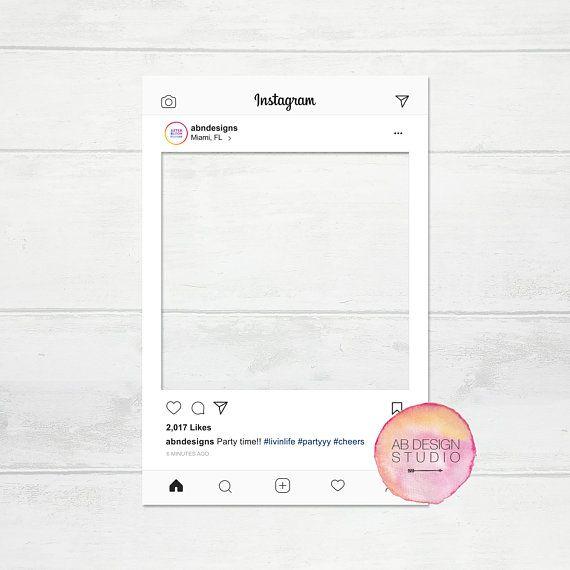 Instagram Frame Social Media Prop Photo Booth Frame Etsy