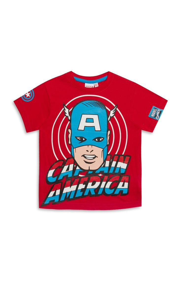 Primark - Younger Boy Red Captain America Tee