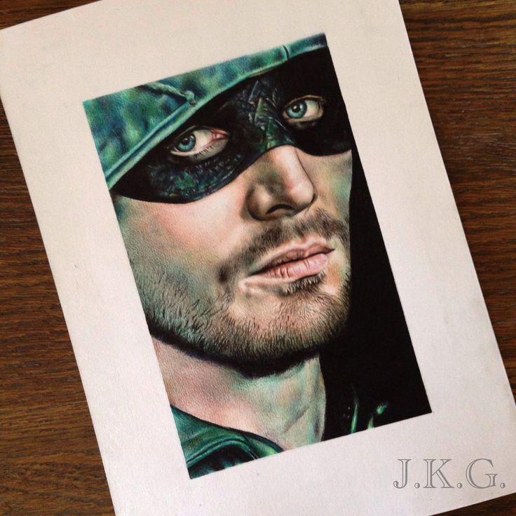 Stephen Amell drawing by johanne-art on DeviantArt