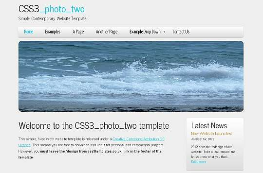 CSS3_photo_two HTML Template  #Art #Business #Corporate #Personal #Portfolio Link: https://goo.gl/64zBmY
