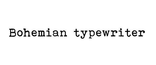 40 Excelentes fuentes tipográficas para imitar máquinas de escribir antiguas | TodoGraphicDesign