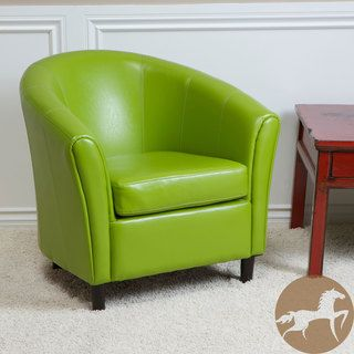 This Unique Green Leather Chair Would Make A Great Counterpoint To Living Room Decorated In Neutral Color Palette The Bonded Holds Up Years Of
