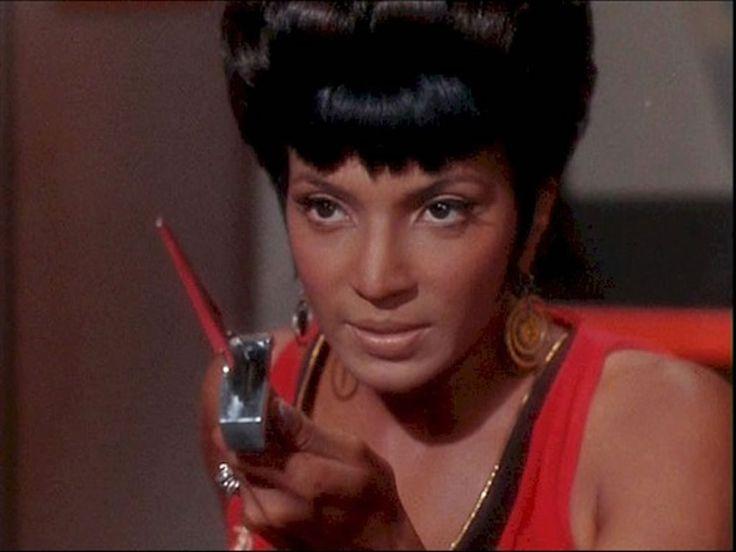 """Star Trek's Lieutenant Uhura, played by beautiful Nichelle Nichols. Here, in the episode """"Mirror Mirror."""""""