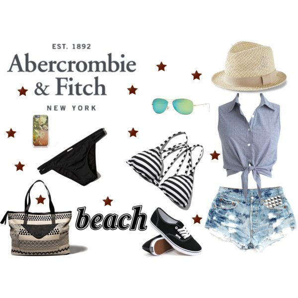 The A&F Summer Getaway Giveaway: Contest Entry by catalinandrea on Polyvore featuring Abercrombie & Fitch, Vans, Ray-Ban and Express