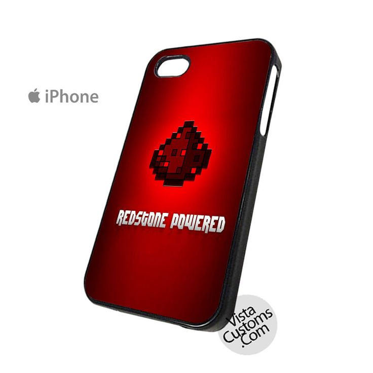 Redstone Powered Minecraft  Phone Case For Apple,  iphone 4, 4S, 5, 5S, 5C, 6, 6 +, iPod, 4 / 5, iPad 3 / 4 / 5, Samsung, Galaxy, S3, S4, S5, S6, Note, HTC, HTC One, HTC One X, BlackBerry, Z10