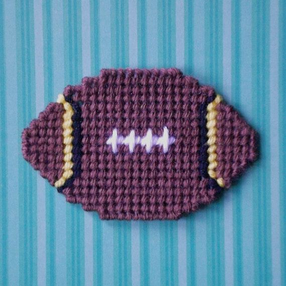Plastic Canvas: Football Fever Football by ReadySetSewbyEvie
