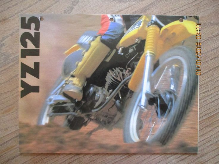 VINTAGE 1979 YAMAHA YZ 125 FACTORY DEALER SHOWROOM SALES BROCHURE MOTOCROSS