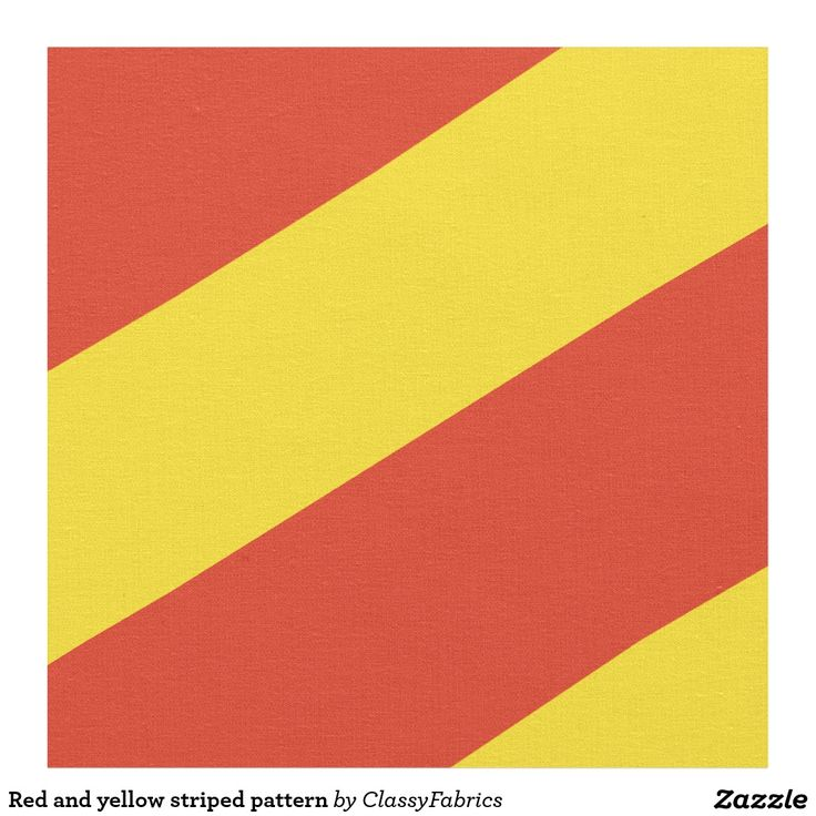 Red and yellow striped pattern fabric
