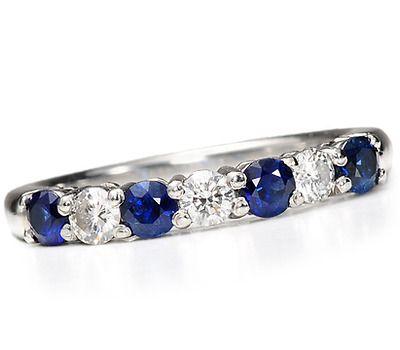 Legendary Tiffany Sapphire Diamond Eternity Ring - The Three Graces Wedding band