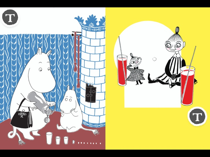 The Book About Moomin, Mymble and Little My / Muumi - Kuinkas sitten kävikään? / Mumin - Hur gick det sen? / Mummi - Hvordan gikk det? / Mumi - Hvad sker der så?  http://www.spinfy.com/apps/storybooks/the-book-about-moomin-mymble-and-little-my/