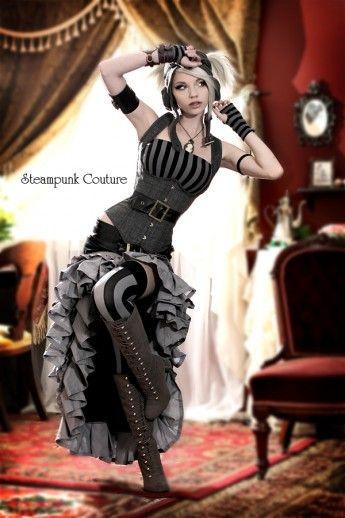 Black and gray Vex skirt