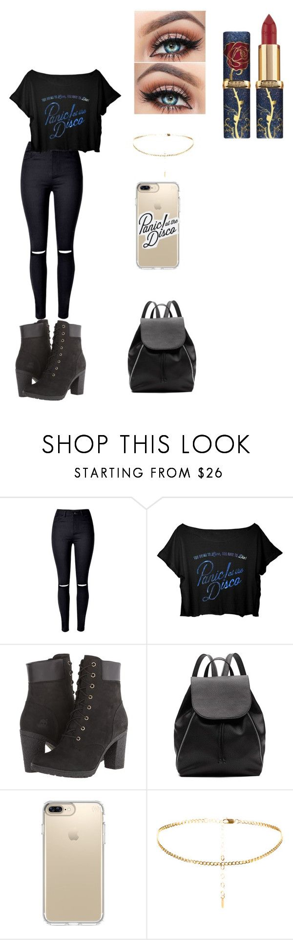 """""""panic at the disco outfit :)"""" by mariahlopez09 on Polyvore featuring WithChic, Timberland, Witchery and Speck"""