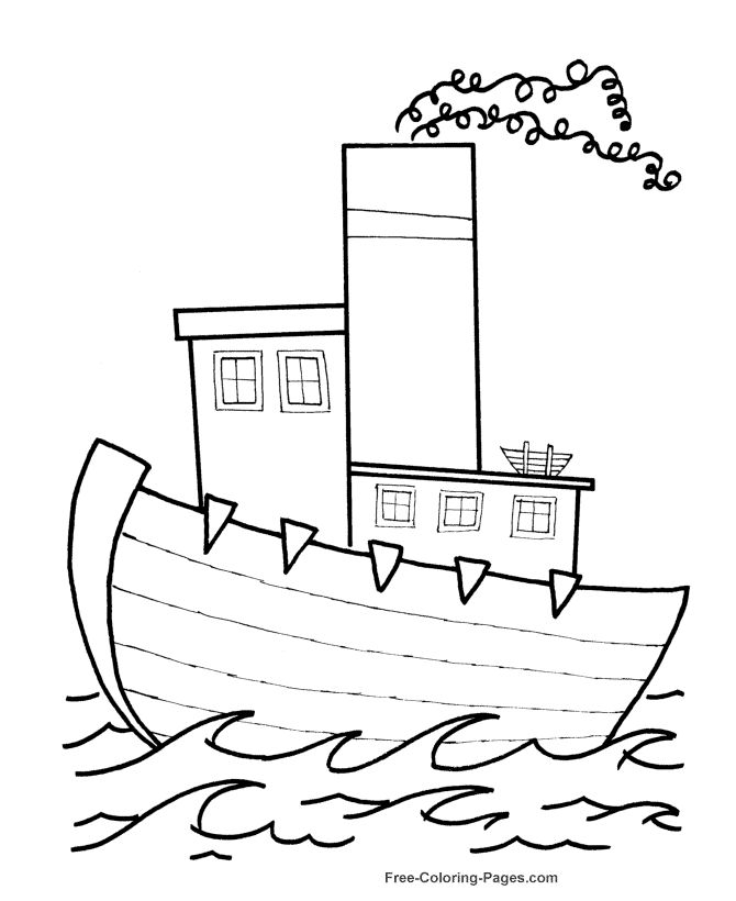 Boat Coloring Pages FREE Printable Sheets And Pictures Of Boats Planes Cars