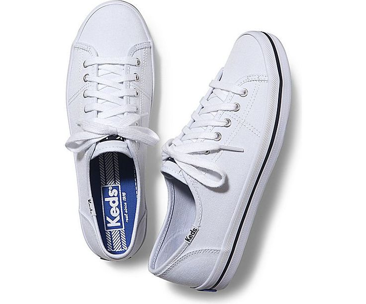 traditional keds tennis shoes made with canvas material