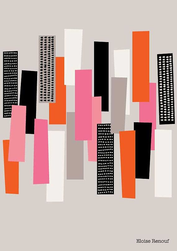 Simple Shapes No1 open edition giclee print by EloiseRenouf