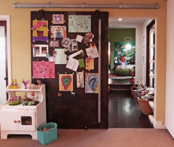 A pin board can be put behind the board so that a child can pin his & 10 best Doors For Kids images on Pinterest | For girls Kids rooms ... pezcame.com