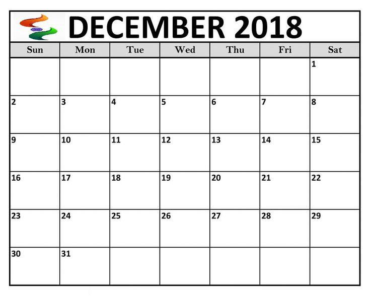 Calendar December 2018 India Printable 100+ December 2018 Calendar