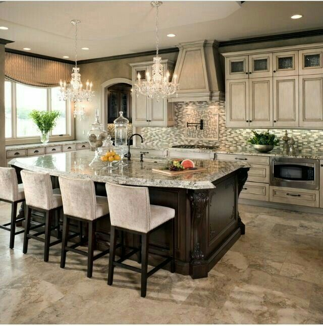 find this pin and more on kitchen designs ideas - Large Kitchen Layouts