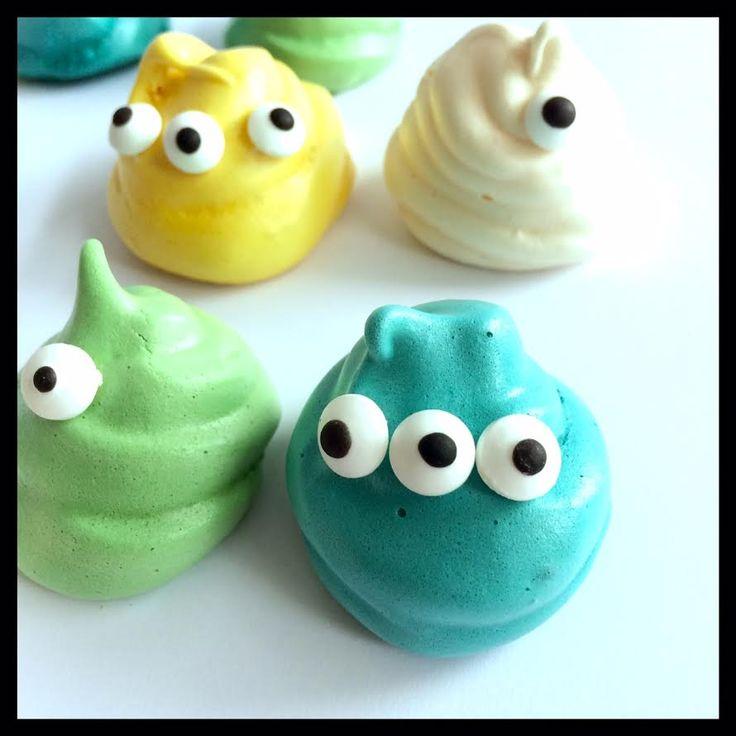 leine Baiser-Monster! Маленькие безе-монстры! #halloween #хэллоуин #дети #монстр #безе #kinder #kids #baiser #monster #diy #backen #cooking