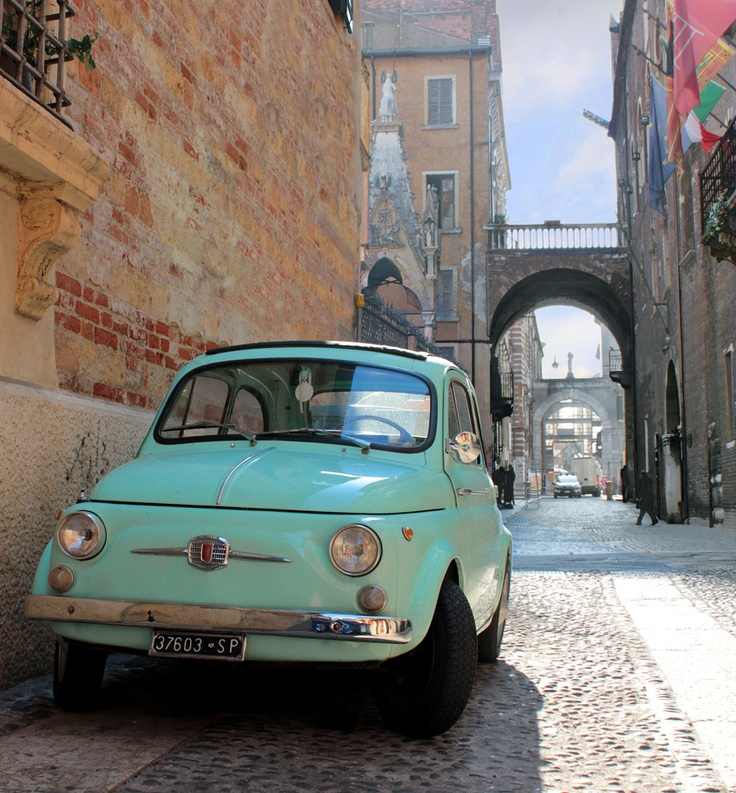 fiat 500 in verona italy italy pinterest verona italy so cute and cars. Black Bedroom Furniture Sets. Home Design Ideas