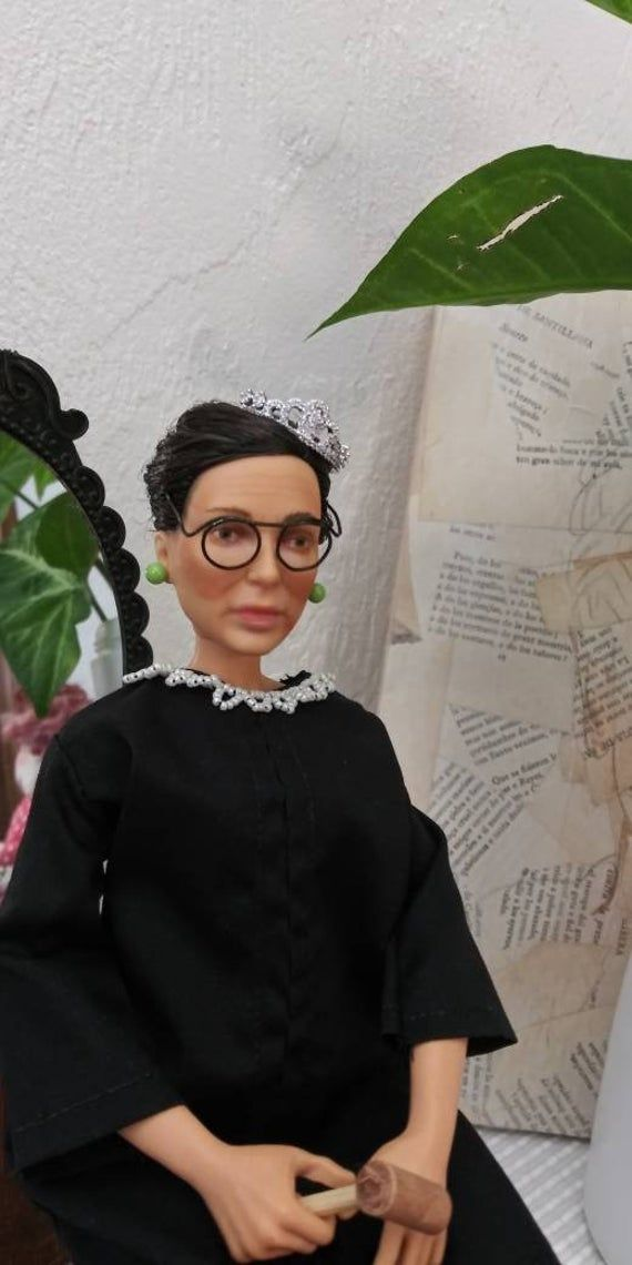 Ruth Bader Ginsburg Doll Supreme Court Justice Pop Rbg Doll Etsy Barbie Collection Mexican Doll Beautiful Dolls