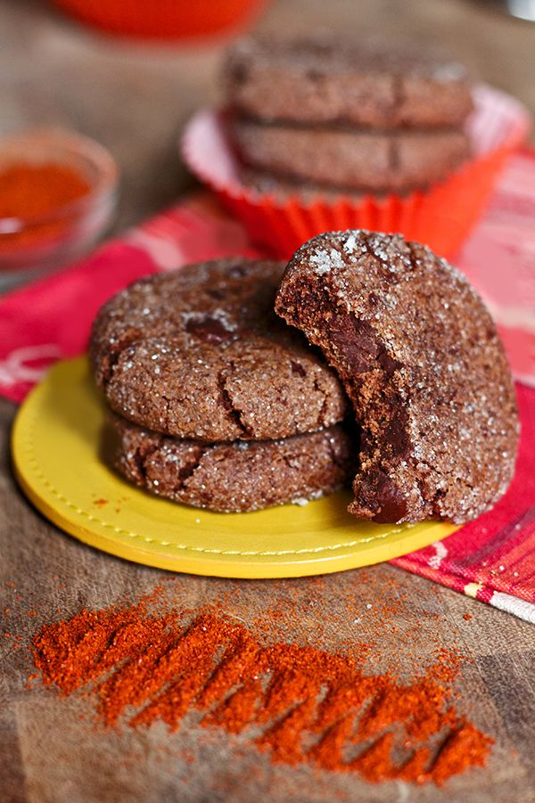 Mexican Chocolate Chili Cookies made with Chupon! It's a delicious Valentine's Day treat!