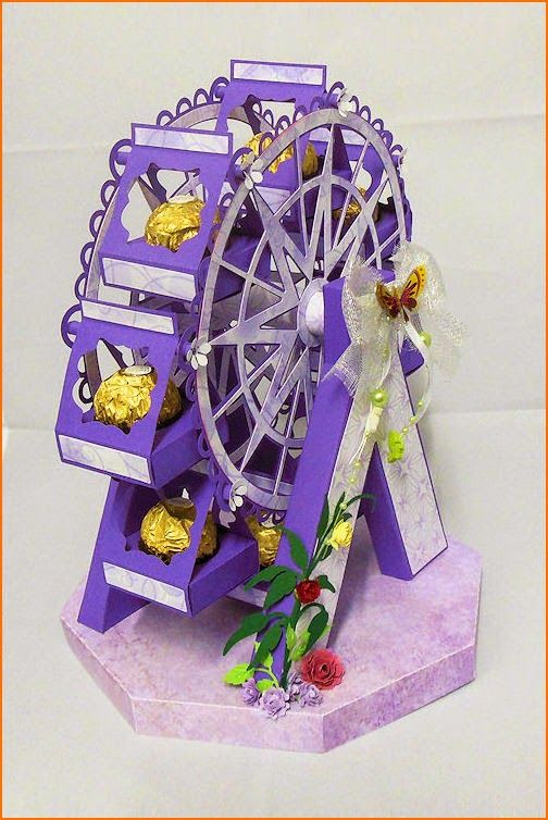 INSPIRATION Paper Creations ferris wheel summer fun ferrero rocher choc holder