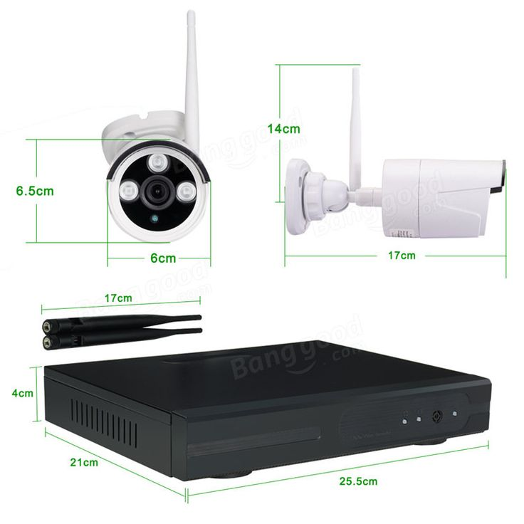 Hiseeu 960P Wireless CCTV 8CH NVR Kit Outdoor IR Night Vision IP WiFi Camera Security Surveillance EU Plug Sale - Banggood.com