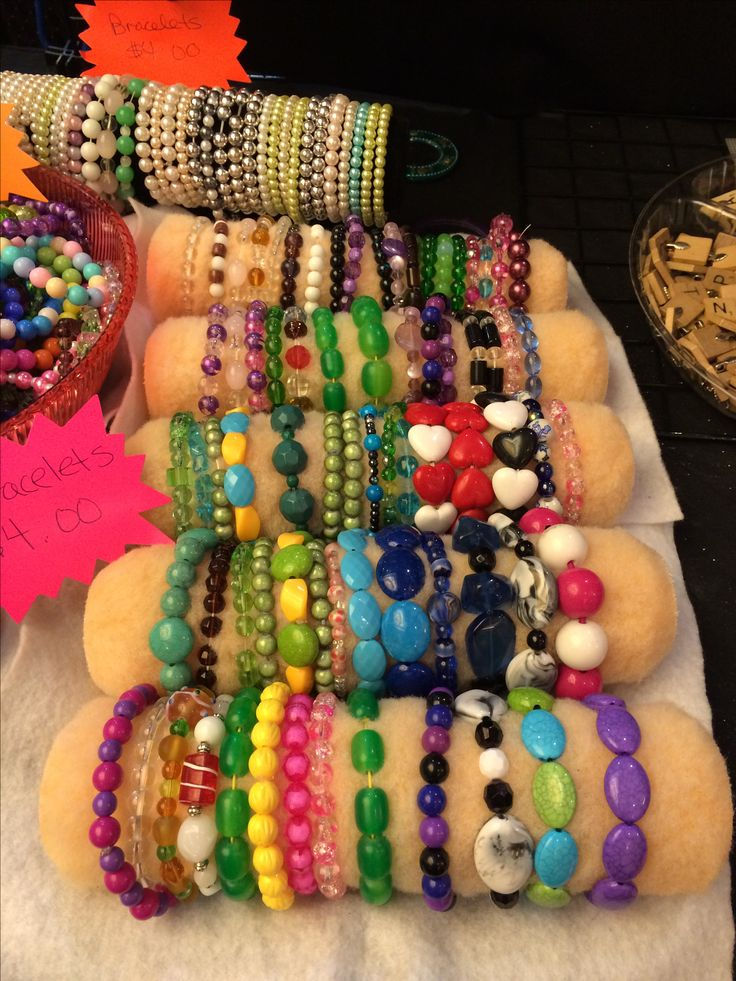 Paint rollers used to display bracelets.  My tables at LI Who 2 convention 11/7/14 - 11/9/14 Ronkonkoma, NY.