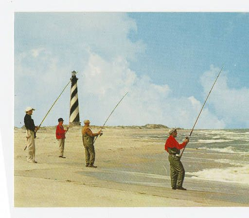 Surf casting at cape hatteras outer banks scenes for Surf fishing outer banks