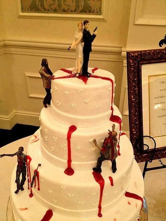 Cool cake idea for those zombies lovers