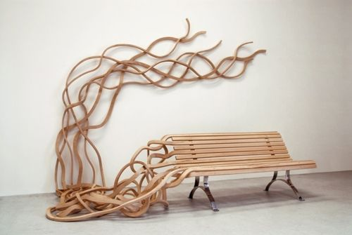 coolWooden Benches, Parks Benches, Chairs, Art, Pablo Reinoso, Seats, Urban Furniture, Furniture Design, Good Air