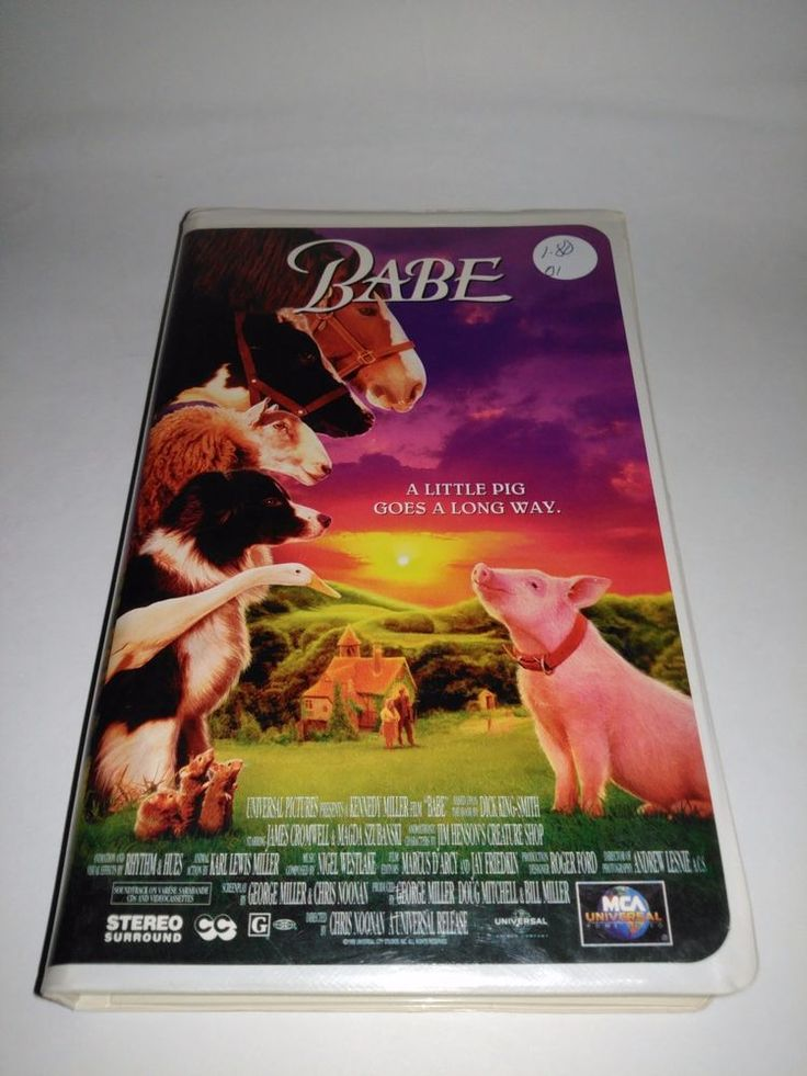 Babe 1995 VHS Clamshell Pig Movie VCR Video Tape