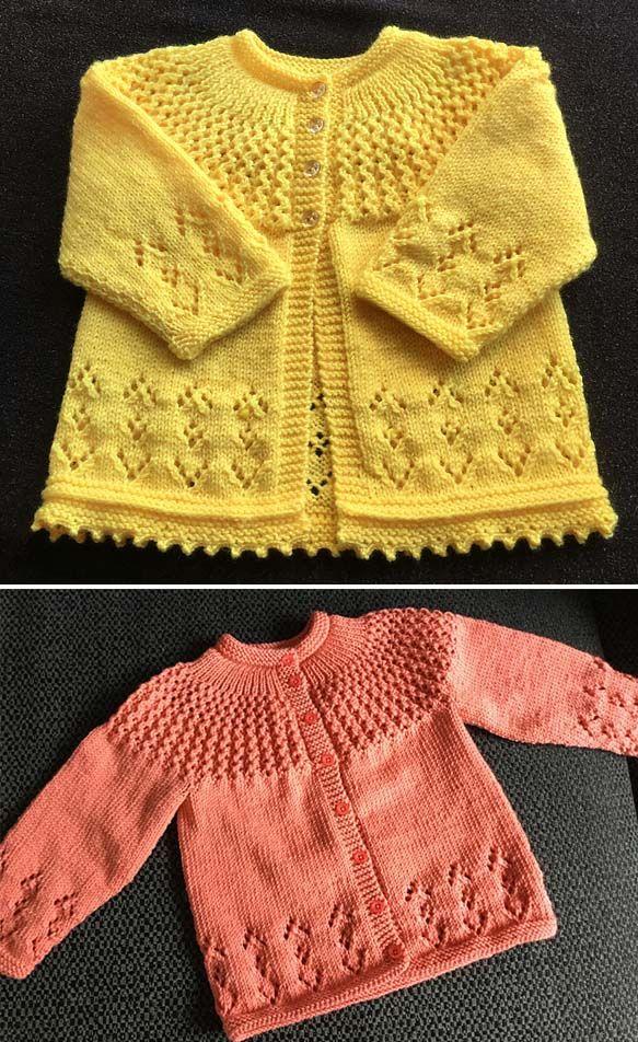 Rosabel Cardigan Free Pattern in 2020 | Baby cardigan
