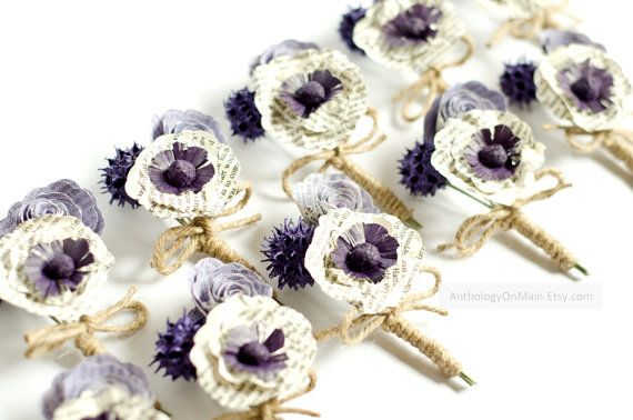 Boutonniere for Groom Groomsmen Ushers or Prom  by AnthologyOnMain, $10.00
