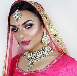 Indian Necklace Tikka Earring Jewellery Set
