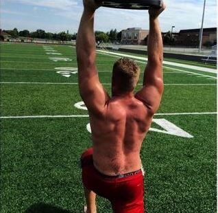 JJ Watt has me wanting to be a better woman! Good lord!