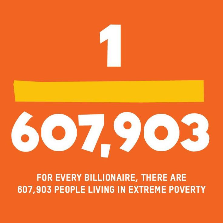 According to the World Bank, there are just over 1 billion people living in extreme poverty – on less than $1.25 a day. Meanwhile, the number of billionaires has more than doubled since the financial crisis, to 1,645 people. The numbers just don't add up. Extreme inequality is no good for anyone. It's in everyone's interests to make the world a fairer place.   SHARE this post if you believe enough is enough and take action here: act.oxfam.org/ireland