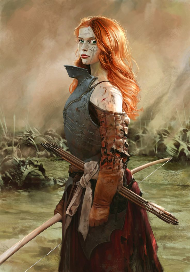 Saighdeoir (Female Archer), Godfrey Escota on ArtStation at https://www.artstation.com/artwork/drdXw
