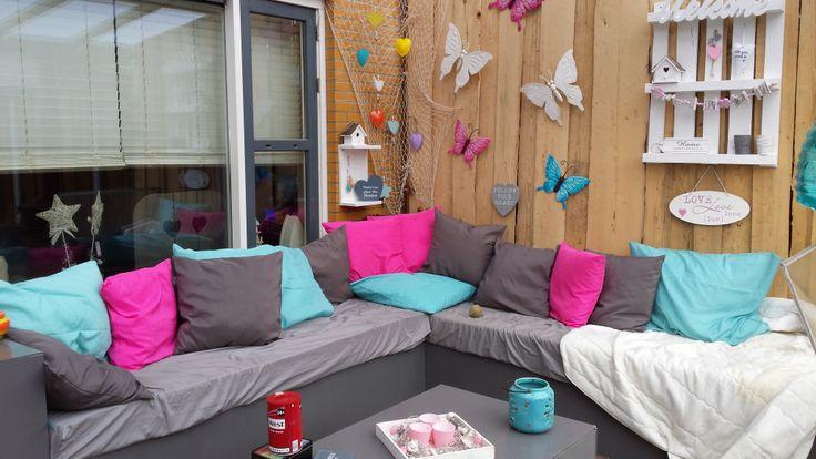 Meer dan 1000 afbeeldingen over mijn eigen gebouwde veranda op pinterest - Hoekbank hok ...