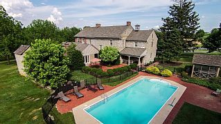 Large Stone Farm House With Beautiful In-Ground Pool Across from Nook Sports