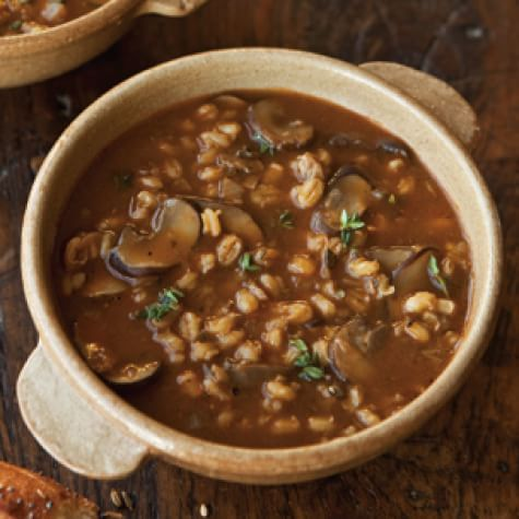 Savory Barley Soup with Wild Mushrooms and Thyme   Williams Sonoma