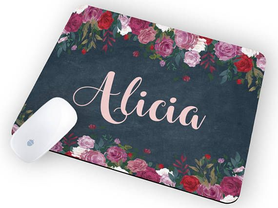 Mouse pad floral Personalized Mousepad Mouse pad