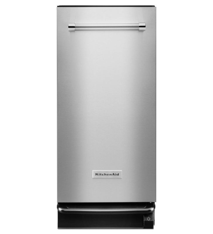 KitchenAid KTTS505E Built-In Trash Compactor with 5 to 1 Compaction Ratio Stainless Steel Trash Compactors Trash Compactor Built-In