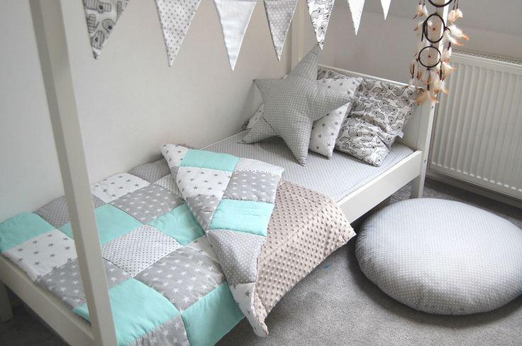 Pled,+kocyk+patchwork+dziecięcy+na+łóżko+maluszka+w+Sroka+białoboka+na+DaWanda.com