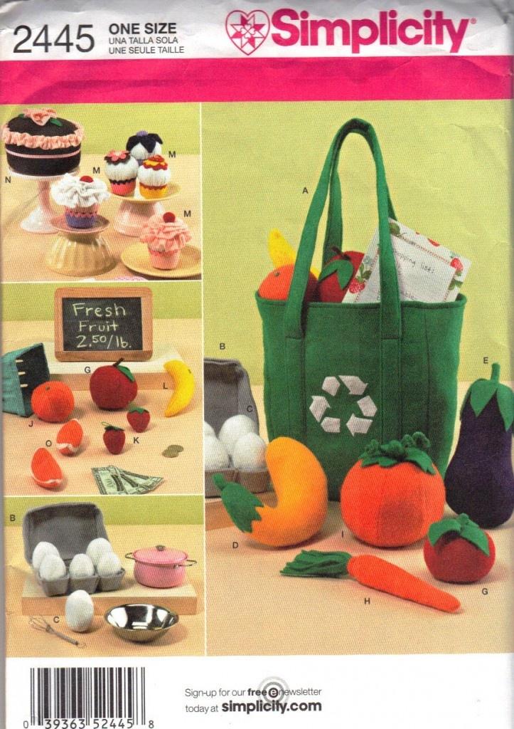 Simplicity Felt Food Pattern – NIP - free shipping to US - $9.50