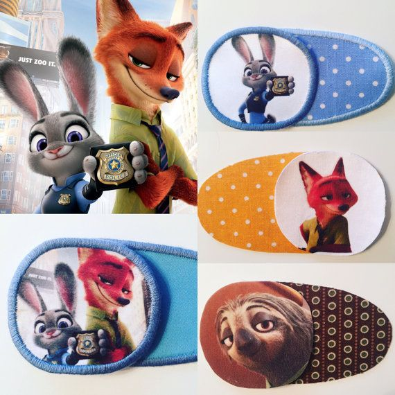 Eye patch for children with Zootopia characters. от MalinkaArt