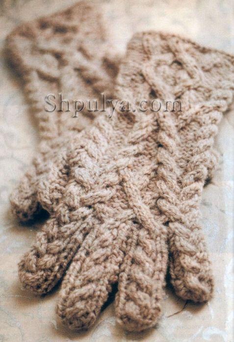 Перчатки с косами спицами, вязание спицами с описанием, перчатки спицами описание схема, вязание перчаток спицами, перчатки с косами спицами, вязаные перчатки, сайт о вязании, купить пряжу для вязания, интернет магазин пряжи, <a href=