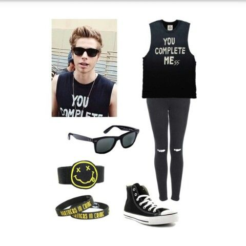 Luke inspired by are-we-happy-now-yes-no on Polyvore
